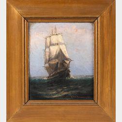 Theodore Victor Carl Valenkamph (Swedish/American, 1868-1924)      Sailing at Daybreak