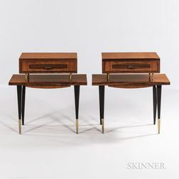 Two French Moderne Side Tables