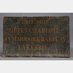 Commodore Barclay's Wardroom Sign