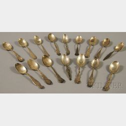Sixteen Assorted American Sterling Silver Mostly Souvenir Spoons