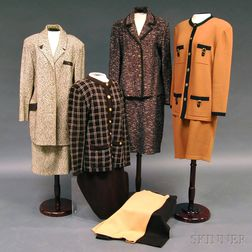 Four St. John Brown Knit Wool Lady's Suits