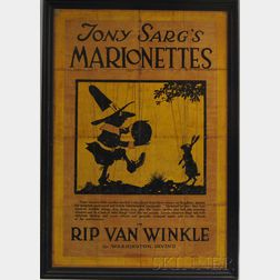 Framed Tony Sarg's Marionettes in Rip Van Winkle Poster