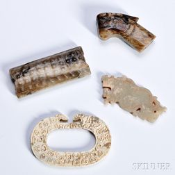 Four Small Archaic Hardstone Carvings