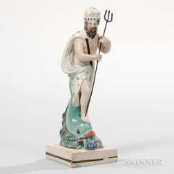 Marked Wedgwood Pearlware Figure of Neptune