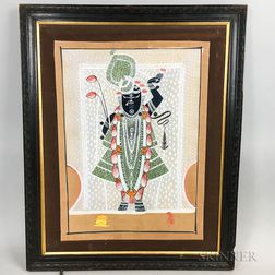 Two Framed Indian Gouache Figures