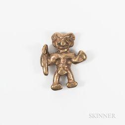 Diquis Gold Pendant of a Man