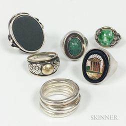 Six Silver Rings