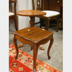Mahogany Dish-top Stand and a French-style Mahogany Stand