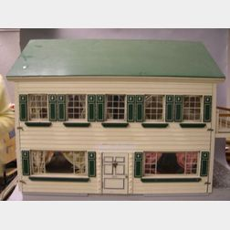 FAO Schwarz Wooden Dollhouse and Furniture