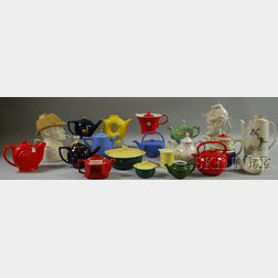 Collection of Hall China Teapots and Serving Items