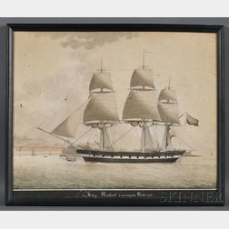 Nicholas S. (Nicola) Cammillieri (France and Malta, Italy, 1762-1860)      Ship Maitland   comming [sic  ] into Malta 1835.