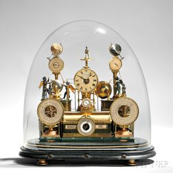 "Louis E. Meyer ""Grand Complication"" Skeleton Clock"