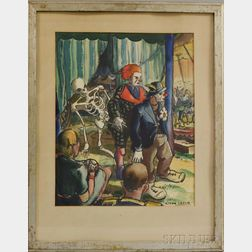 Hilton Leech (American, 1906-1969)      Clowns