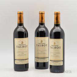 Chateau Talbot 1995, 3 bottles