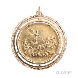18kt Gold Pisces Pendant, Giampaoli, Unoaerre