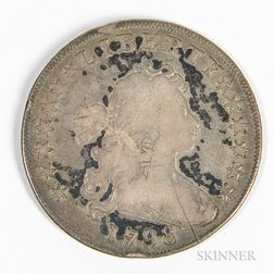 1798 Pointed 9, 4 Lines, Draped Bust Dollar