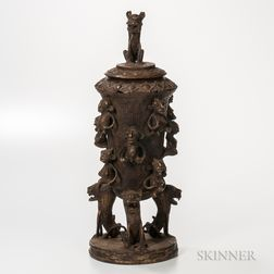 Benin-style Bronze Vessel