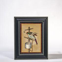 Pietra Dura Plaque of a Parrot