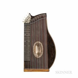 American Concert Zither, Franz Schwarzer, Washington, c. 1900