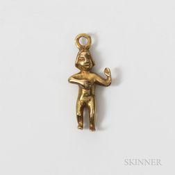 Diquis Gold Pendant Figure