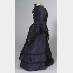 Two-Piece Lady Doll's Dress in Indigo Silk