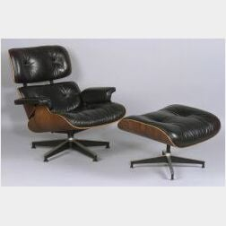 Charles Eames Lounge Chair and Ottoman.