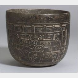 Pre-Columbian Carved Blackware Bowl
