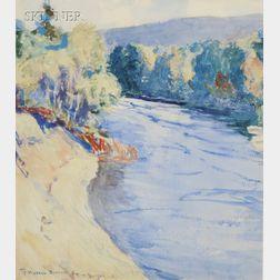 Frank Weston Benson (American, 1862-1951)      The Gorge in Autumn
