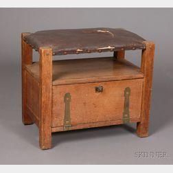 Arts & Crafts Woodcraft Guild Footstool