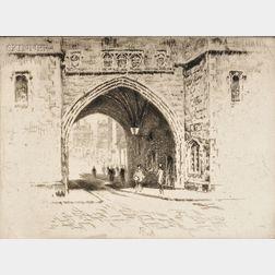 Joseph Pennell (American, 1860-1926)      St. John's Gate, Clerkenwell