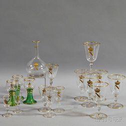 Sixteen Pieces of Napoleon Stemware