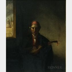 Amasa Hewins (American, 1785-1855)      Lute Player