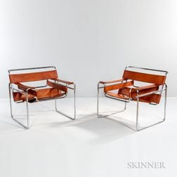 Pair of Marcel Breuer Wassily Chairs
