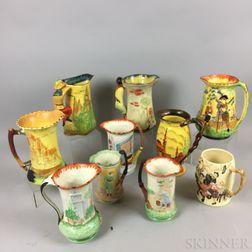Ten English Pottery Jugs