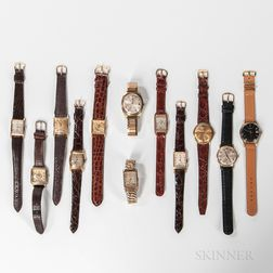 Twelve Men's Manual-wind and Automatic Wristwatches