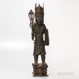 Benin-style Bronze Warrior