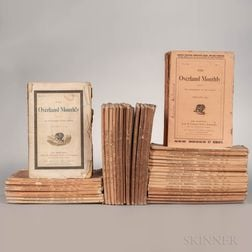 The Overland Monthly  , 1868-1875, Fifty Issues.