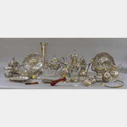 Group of Classically Decorated Silver Plated Tablewares