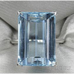 Platinum and Aquamarine Ring, Raymond Yard