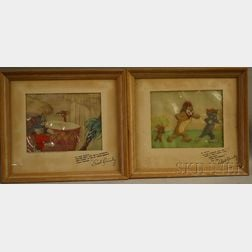 Metro-Goldwyn-Mayer/Hanna and Barbera Studios      Two Animation Cels from Tom and Jerry