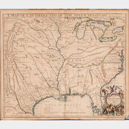 Louisiana, Texas, Gulf Coast, Great Lakes, and the Mississippi. John Senex (1678-1740) A Map of Louisiana and of the River Mississipi.