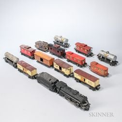 Fifteen Lionel Train Cars