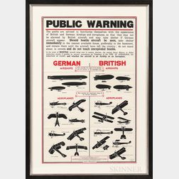 "World War I ""Public Warning"" Poster"