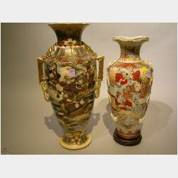 Two Large Satsuma Vases.