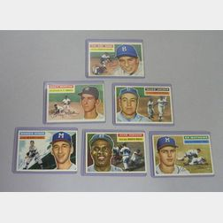 Six 1956 Topps Baseball Cards