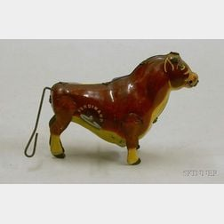 "Marx/Walt Disney Enterprises Clockwork Bull Wind-Up Toy ""Ferdinand,"""