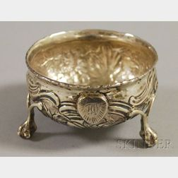 English Sterling Silver Footed Dish and Gold Sovereign