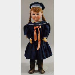 Jutta Bisque Head Girl Doll