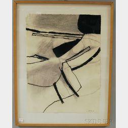 Leon Goldin (American, 1923-2009)      Drawing #2