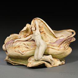 Teplitz Porcelain Art Nouveau-style Figural Bowl